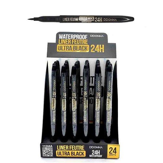 Crayon feutre liner Noir waterproof avec pointe fine précis D'donna