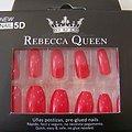 Faux ongles Rouge brillant autocollant 2en1 Rebecca Queen