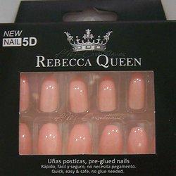 Faux ongles Pêche brillant autocollant 2en1 Rebecca Queen