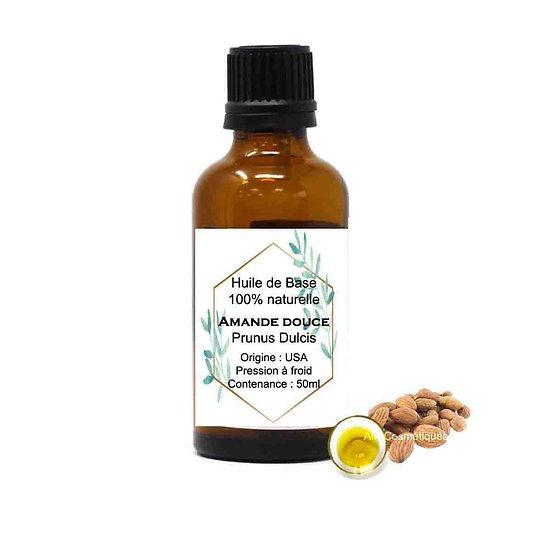 Huile d'Amande douce en 50ml excellent hydratant, nourrir la peau