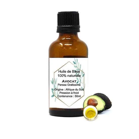 Huile d'Avocat raffinée 50ml huile peaux sèches et déshydratées