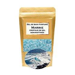 Sel de bain parfumé Marine relaxant cristaux de sel non-raffinés