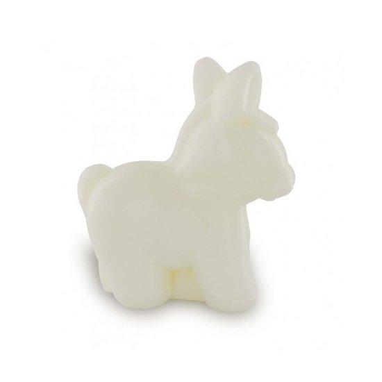 Savon au lait d'ânesse bio formant un âne en 145g soap ânesse