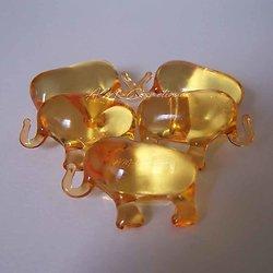 Perle de bain éléphant parfumée Mandarine en orange translucide