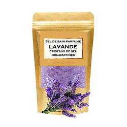 Sel de bain parfumé Lavande relaxant cristaux de sel non-raffinés