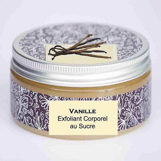Exfoliant corporel au sucre Vanille 300g adoucit et hydrate