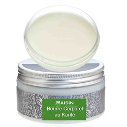 Beurre corporel au karité Raisin 180g une peau hydratée