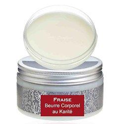 Beurre corporel au karité Fraise 180g pour une peau hydratée