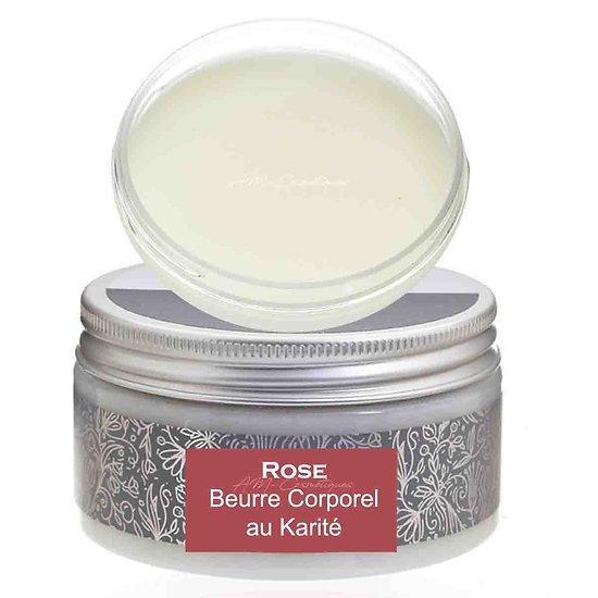Beurre corporel au karité Rose 180g pour une peau hydratée