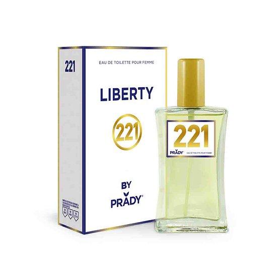 Eau de Toilette Liberty pour femmes en spray 100ml Prady Parfums