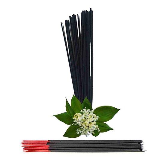 Bâtonnet d'encens indien Muguet de 23cm avec mélange d'herbes
