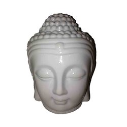 Brûleur à huile Tête de Bouddha blanc céramique décoration