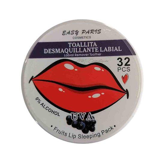 Lingettes démaquillantes Raisin démaquillez vos lèvres Easy Paris