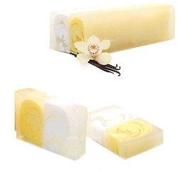 Savon artisanal Vanille en 100g avec un parfum sucré étonnant