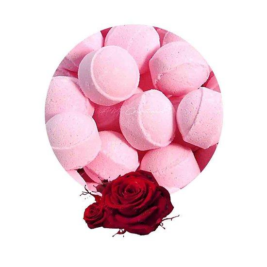 Mini bille de bain Rose pour détente bain et arôme floral
