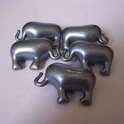 Perle de bain Eléphant parfumée Noix de coco gris nacré huile bain