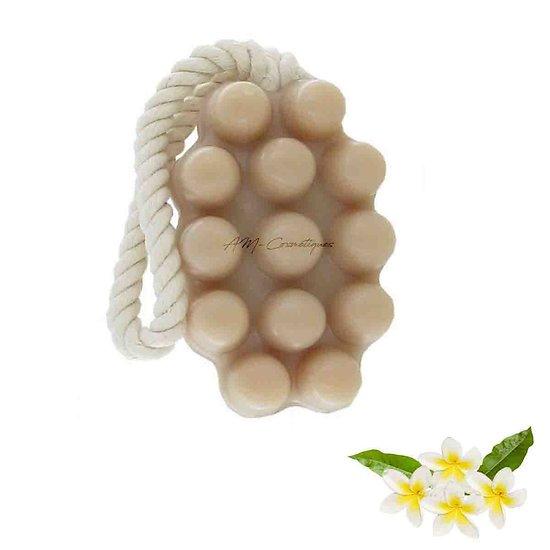 Savon de massage Monoï exfoliant 125g pour raffermir votre corps