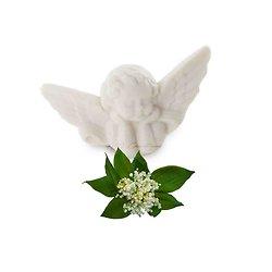 Savon fantaisie Ange parfumé au Muguet 25g coloris blanc soap