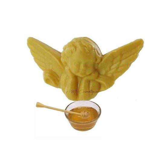 Savon fantaisie Ange parfumé au Miel 25g coloris doré soap
