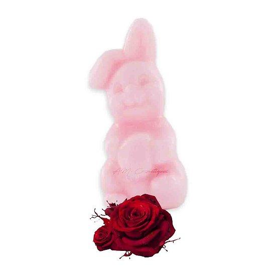 Savon fantaisie Lapin parfumé à la Rose 25g coloris rose soap