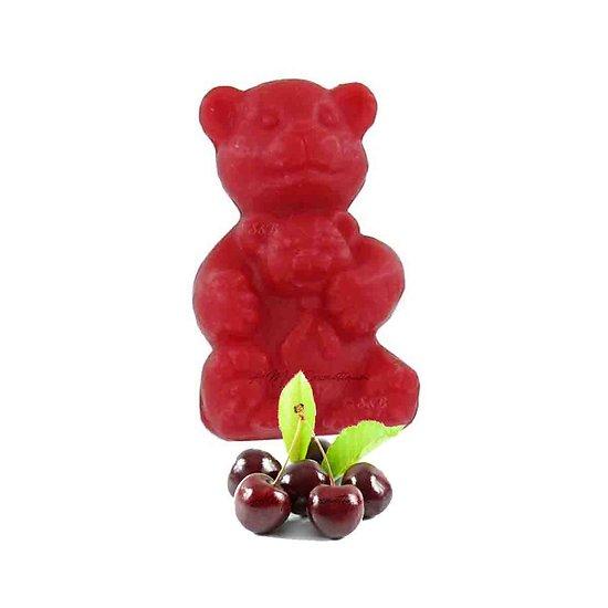 Savon fantaisie Ourson parfumé Cerise 25g coloris rouge soap