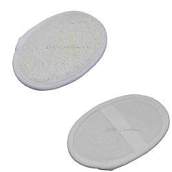 Loofah naturel exfoliant oval avec une face unique loofah et coton