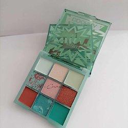 Palette Pastels Mint Menthe ombres à paupières tons vert D'donna