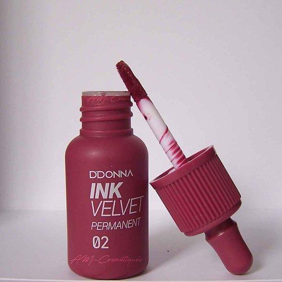 Encre à lèvres Bordeaux gloss Ink Velvet permanent D'donna