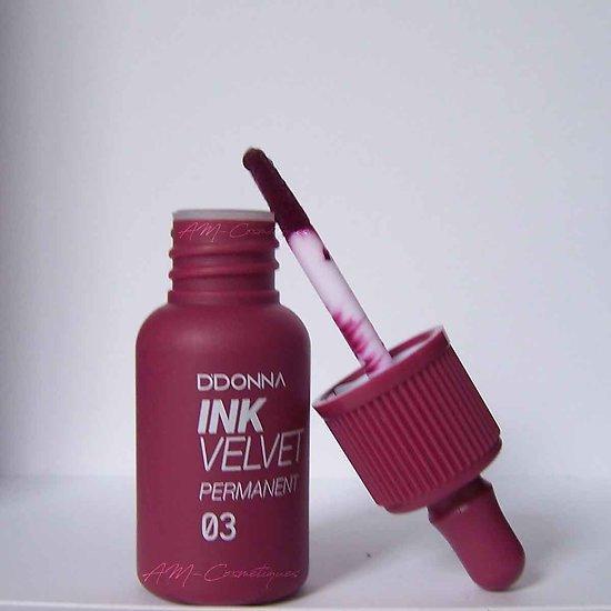 Encre à lèvres Pourpre gloss Ink Velvet permanent D'donna