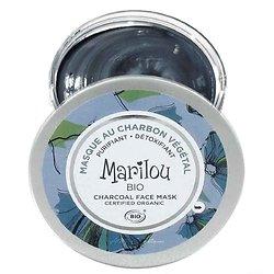 Masque visage Charbon Végétal redonne éclat 75ml Marilou Bio