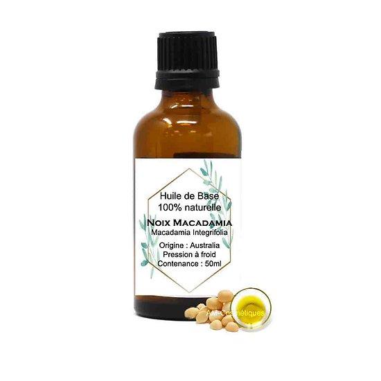 Huile Noix de Macadamia 50ml huile pour peau sèche et mature