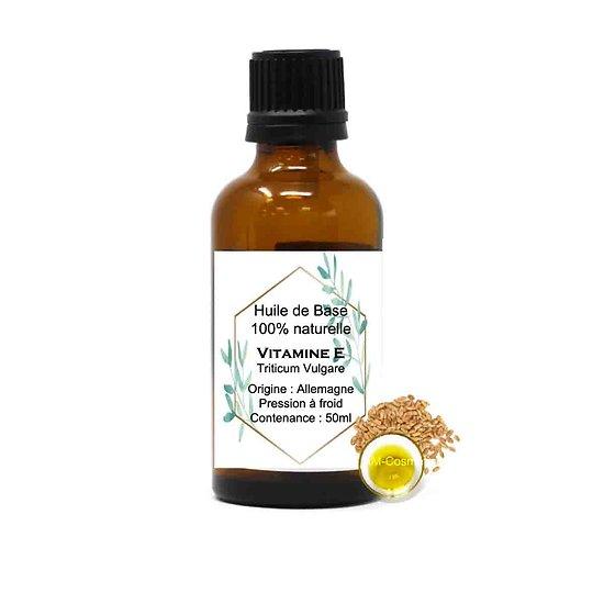 Huile de base Vitamine E naturelle 50ml hydratant et antioxydant