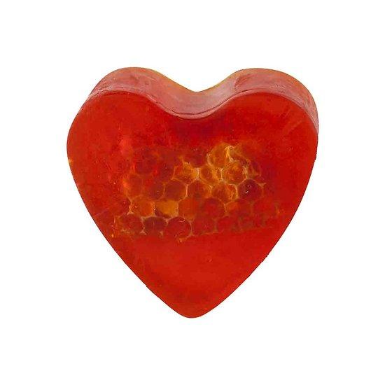 Savon glycérine coeur Miel 85g peau lisse et hydratée
