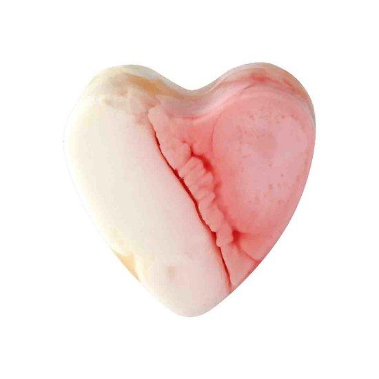 Savon glycérine coeur Framboise 85g peau lisse et hydratée