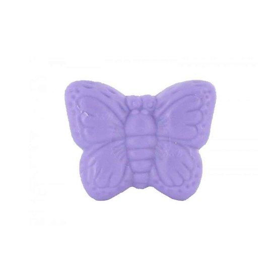 Savon fantaisie Papillon parfumé Lavande 25g coloris mauve soap