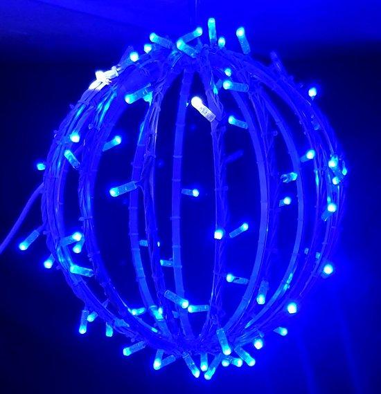 Sphère Bleu Pétillant Blanc (40cm)