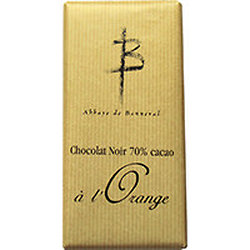 2 Tablettes de chocolat noir 70% cacao à l'Orange