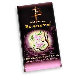 Chocolat noir 70% cacao au thé cerisier de chine