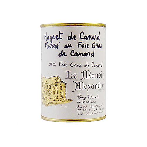Magret de canard fourré au foie gras 20%  383 gr