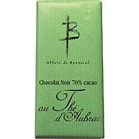 2 Tablettes de Chocolat Noir 70% cacao au Thé d'Aubrac