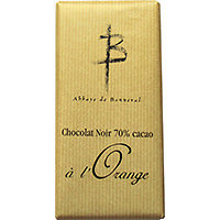 2 Tablettes de chocolat noir 70% cacao à l'Orange
