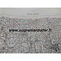 Road Map Caen Paris US wwII