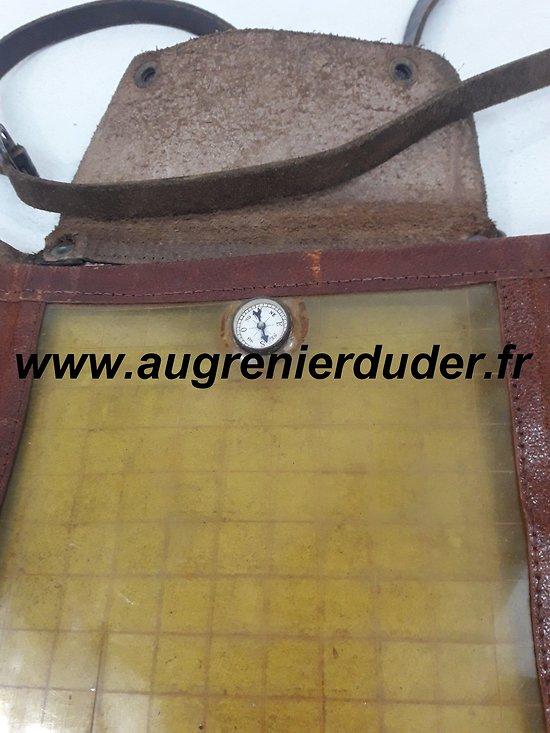 Porte carte / boussole officier France wwI