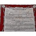 Mouchoir d'instruction fusil 1874 France ww1