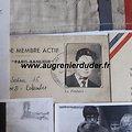 Cadre souvenirs de Mr Moreau Résistance Paris wwII