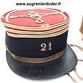 Ensemble képi polo et épaulettes 21 ème R.I France wwI