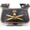 Coffret de giberne officier artillerie Second Empire / IIIème République