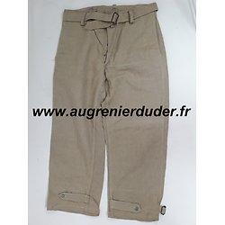Pantalon de treillis modèle 1938 France