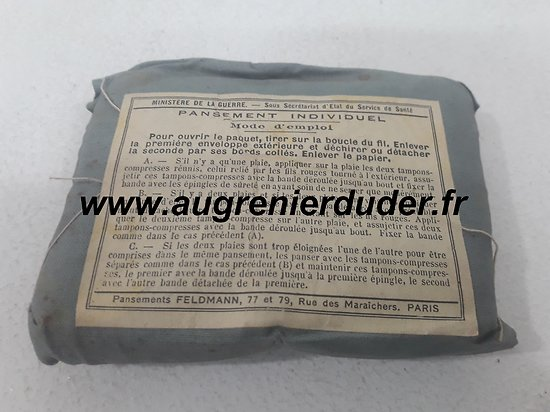Pansement individuel neuf France wwI