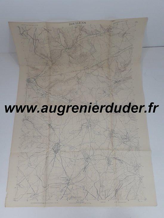 Canevas de tir secteur Doullens France wwI